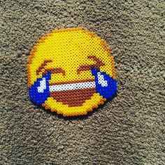 Emoji perler beads by effyjiang