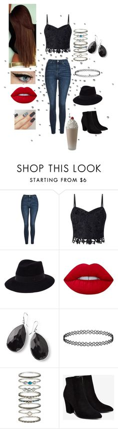 """Untitled #726"" by jujuxx33 ❤ liked on Polyvore featuring Topshop, Lipsy, Maison Michel, Lime Crime, Ippolita, Accessorize and Billini"