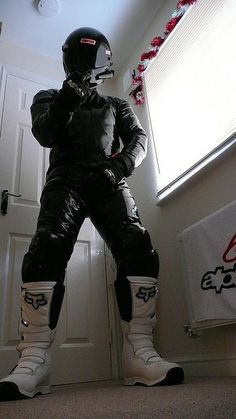 Gay Bikers Bike Suit, Motorcycle Suit, Motorcycle Leather, Motocross Outfits, Tron Bike, Mx Boots, Motorbike Leathers, Biker Boys, Gay