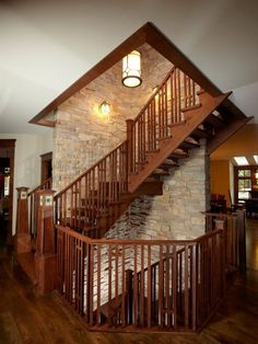 Craftsman Staircase Design, Pictures, Remodel, Decor and Ideas - page 5