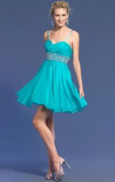 Pretty Short Blue Tailor Made Cocktail Prom Dress (LFNAC0272) in http://www.marieprom.co.uk/