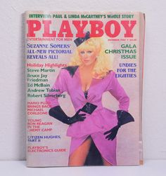 Playboy Magazine December 1984-Suznne Somers Pictorial-Steve Martin-Ronald Reagan-Paul/Linda McCartney by VintageByDuran on Etsy