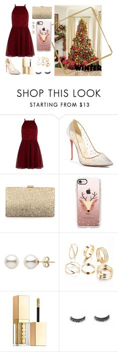 """""""Christmas🎅🏼"""" by maiamlerou on Polyvore featuring mode, New Look, Christian Louboutin, Neiman Marcus, Casetify et Stila"""