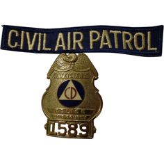 WWII Civil Air Patrol Set w/ Patch & Badge Erie County New York NY Home Front