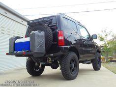ジェリ缶&クーラーBOXを積載 Jimny 4x4, Jimny Suzuki, Suv Camping, Fj Cruiser, Rally, Samurai, Travelling, Camper, Monster Trucks