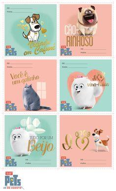 Não sabe como presentear a pessoa que deixa você mais bobo que um cachorrinho? Temos várias sugestões de cartões para o Dia dos Namorados da turma de Pets - A Vida Secreta dos Bichos!