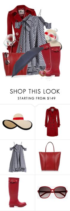 """It's Raining, It's Pouring..."" by colierollers ❤ liked on Polyvore featuring Eugenia Kim, Burberry, MSGM, Dolce&Gabbana, Hunter, Yves Saint Laurent and London Undercover"