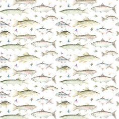 This River Fish fabric could be perfect for curtains or blinds for a fishing mad boy's bedroom!  Team it up with a check or tweed fabric to coordinate.  All available from Victoria Clark Interiors.