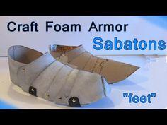 Make Foam Knight's Armor  Feet (Sabatons)