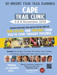 Cape Trail Clinic: Sat 5 & Sun 6 Nov 2016