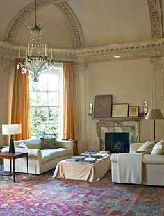 Rose Uniacke living room with classically designed details. Rose Uniacke's Classic Designed Minimal Home in London. Decorating Small Spaces, Interior Decorating, Interior Paint, Decorating Ideas, Rose Uniacke, Minimal Home, World Of Interiors, House Interiors, Traditional Interior