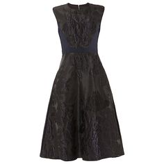 Buy Phase Eight Adara Jacquard Dress, Midnight, 6 Online at johnlewis.com