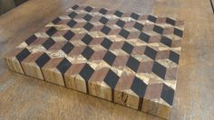 3D End Grain Cutting Board by 2054 on Etsy, $175.00