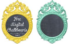 Free Digital Chalkboard - various color options available.  Cute idea for DIY paper crafts. Great site as a whole. Lots of adorable freebies.