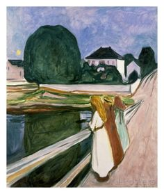 The Girls on the Pier, 1901 Posters by Edvard Munch at AllPosters.com