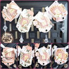 """Valentine's Day """"LOVE"""" banner featuring Sweet Sentiments & Staples ATC tags. Created by Arlene"""