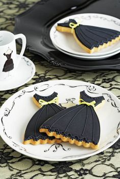 Enchantingly pretty LBD cookies. #fashion #food #cookies