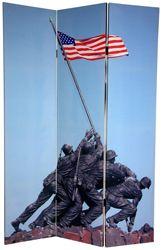 Memorial Canvas Room Divider - Iwo Jima