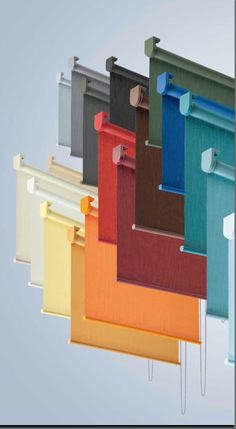 Colored head rail on roller blinds by Silent Gliss