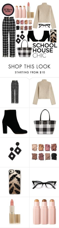 """School house chic"" by shonarowan ❤ liked on Polyvore featuring Rosetta Getty, Kate Spade, Kenneth Jay Lane, Illamasqua, Casetify and L'Oréal Paris"