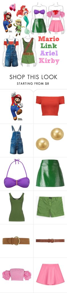 """""""Character inspired!"""" by beanpod ❤ liked on Polyvore featuring Nintendo, Disney, Buy Seasons, Alice + Olivia, Dondup, Bloomingdale's, Lazul, Courrèges, Michael Kors and J.Crew"""