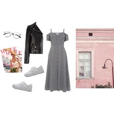 ginghan #2 by kpnhra on Polyvore featuring мода, Warehouse, Yves Saint Laurent and WithChic