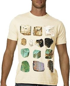 Minerals Tshirt Gems Science Tee MENS Shirt by nonfictiontees, $23.99
