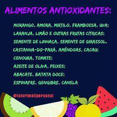"""6 curtidas, 1 comentários - Tais Personal (@taisrimolipersonal) no Instagram: """"Olá pessoal! Alimentos Antixoxidantes são muito importantes para nossa saúde! Além de prevenir o…"""""""