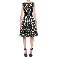 Fit n flare dress inspo. Ivy Jacquard Full Circle Dress by Alexander McQueen.  #fallintofashion14 #mccallpatterncompany