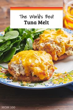 Recipes Tuna The World's Best Tuna Melt: Start with great tunafish salad, pile it onto a toasted English muffin, top with cheese and broil for one of the best sandwiches ever. via Katie Workman Tuna Melt Sandwich, Tuna Melts, Soup And Sandwich, Tuna Patty Melt Recipe, Classic Tuna Melt Recipe, Tuna Sandwich Recipes, Sandwich Ideas, Best Sandwich, Tuna Fish Recipes