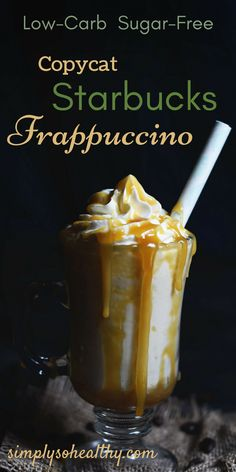keto frappucino starbucks This Low-Carb Copycat Starbucks Coffee Frappuccino tastes just like a Starbuck's frappe without the carbs! This guilt-free, healthy Frappuccino is pe Low Carb Drinks, Low Carb Smoothies, Smoothie Drinks, Low Carb Desserts, Low Carb Recipes, Smoothie Recipes, Diet Recipes, Diet Drinks, Beverages