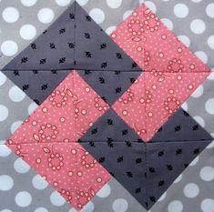 Free Quilt Block Patterns | Starwood Quilter: Card Trick Quilt Block Patch Quilt, Square Quilt, Hexagon Quilt, Pattern Blocks, Diy Quilting Patterns, Free Quilt Block Patterns, Block Quilt, Quilting Tips, Patchwork Patterns