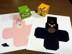 """Angry Bird cubes you can make yourself - From the book """"Angry Birds: Hatching a Universe"""""""