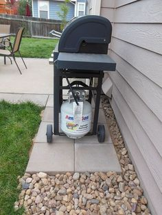 install a stone grill pad, concrete masonry, outdoor living