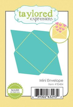 Taylored Expressions - Cutting Die - Mini Envelope,$12.99