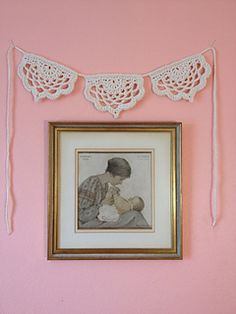 These beautiful little buntings crochet up really fast, and are a fabulous addition to any room, porch, yard, or really where ever your heart desires!