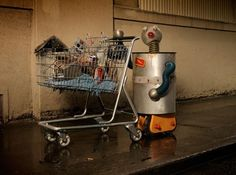 "Nobotty is a photography project by photographer David Emmit which features a series of ""homeless robots""."