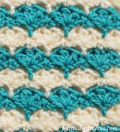 Crochet Stitches - Trident Clusters
