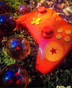 """""""Dragon Ball"""" Xbox One Custom Controller W/ Charge Pack & Carrying Case!  