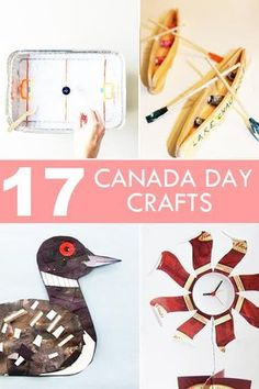 <Check out the Loon, Northern Lights and Water Wall specifically.> On Canada Day, teach the kids about all that makes this country great with these fun crafts! Canada For Kids, Canada Day 150, Canada Day Party, Summer Crafts, Fun Crafts, Crafts For Kids, Canada Day Crafts, Craft Activities, Social Activities