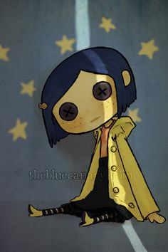 Coraline fanart print 4 x 6 by thebluecanary on Etsy, $6.00