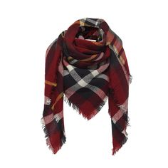 Red tartan woolly scarf - perfect for Autumn!