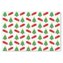Dog Christmas Dream Salami Tissue Paper
