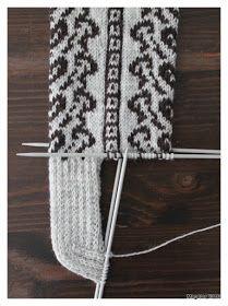 Megetar: Sydänpolku -kirjoneulesukat Malli, Tapestry, Knitting, Crochet, Hanging Tapestry, Tapestries, Tricot, Breien, Stricken