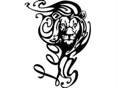 My Leo tattoo idea - i put in the lettering, not perfectly but thats the best my app would allow me too - lion - zodiac sign - symbol