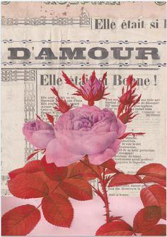Floral over newspaper