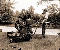 Lawnmower - 1916 A.D. Share your vintage lawn mowers with us: http://www.facebook.com/smallengineparts
