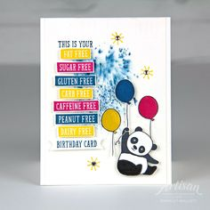 How about a little Birthday Wit & Party Pandas for this weeks Global Design Project Color Challenge (GDP125)? I think both of these stamp sets look great with strong colors! The colors we are using for this challenge are Melon Mambo, Daffodil Delight and Dapper Denim. All favorites of mine. I tr
