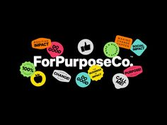 ForPurposeCo. | AGDA Awards Packaging Design Inspiration, Graphic Design Inspiration, Brand Stickers, Information Design, Badge Design, Typography Poster, Presentation Design, Illustrations, Photo Logo