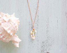 Coquille blanche Croix Section pendentif - collier Bohème - plage bijoux pour Gypsy âmes B1